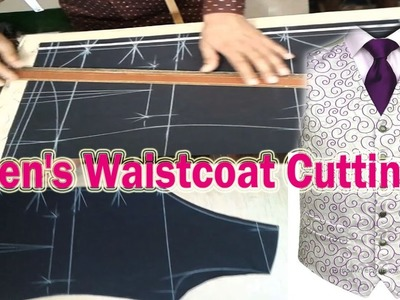 Boys waistcoat Easy  Cutting Full video | Men's Waistcoat cutting  | OBSESS Tailors