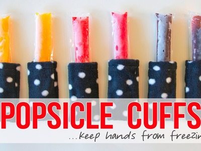 DIY Popsicle Cuffs. keep those hands from freezing!