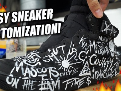 Easiest Way To Customize Sneakers! Tutorial: Repaint and Restore Air Force Ones with Words!