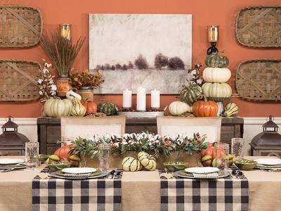 Fall Buffet Table Decor