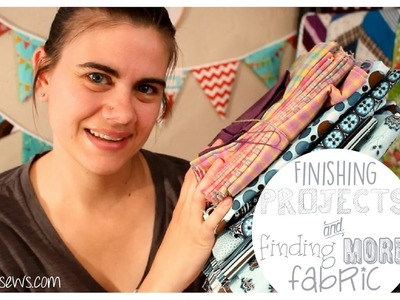 Finishing WIPs and Finding More Fabric?!? | Sew Your Stash | Whitney Sews