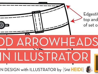 How to Add Arrow Callouts to your Fashion Tech Sketch in Adobe Illustrator