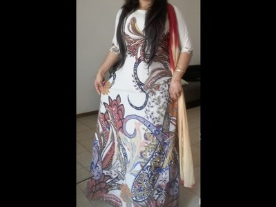 How to cutting and stitching long designing  gown dress or long promo dress tutorial