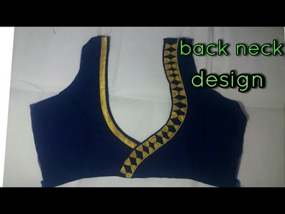 How To Make A Beautiful Back Neck Design 1