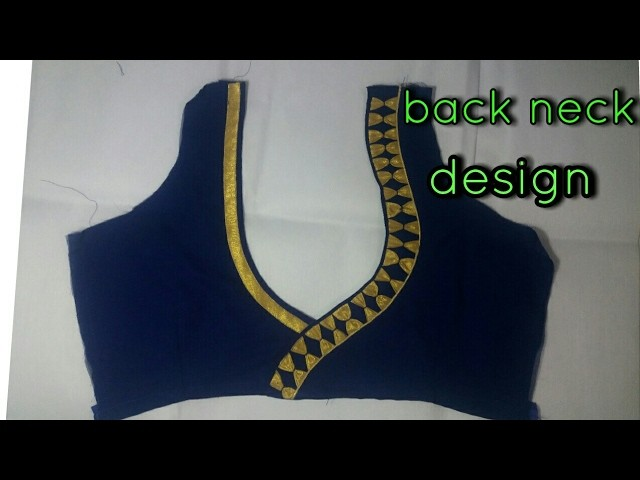 How To Make A Beautiful Back Neck Design 1, My Crafts and ...