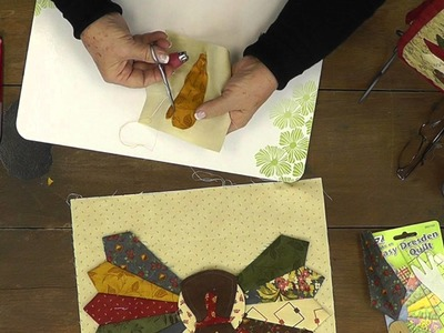 How to make a Dresden Turkey- Applique with Jan Patek - BLOCK 9-Mini Quilt Block of the Month