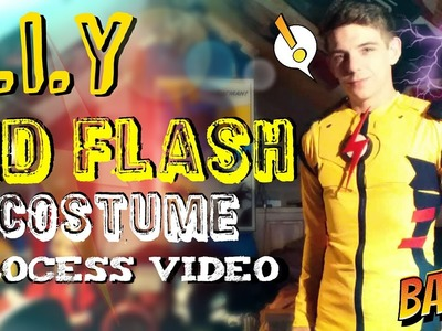 How to Make A Kid Flash Costume | Shirt Base & Symbol | Process Video