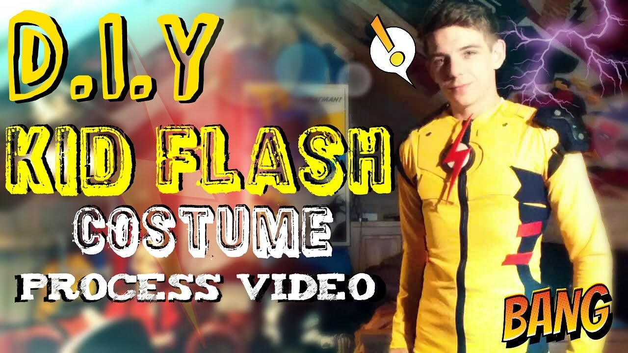 How to Make A Kid Flash Costume | Shirt Base & Symbol | Process Video
