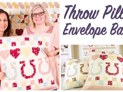 How to Make an Envelope Back for a Throw Pillow by Stacy Iest Hsu - Fat Quarter Shop