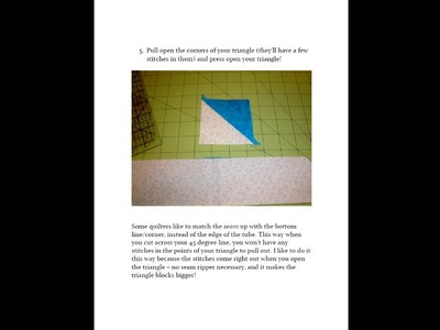 How to Make Easy Jelly Roll Triangles for Your Quilts
