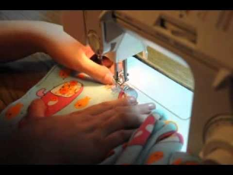 How to Sew Cased Elastic in a Cloth Diaper