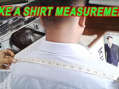 How To Take a Shirt Measurement | শার্ট এর মাপ নেয়া | Direct Shirt Measurement | OBSESS Tailars