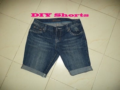 ♥ How to Turn your Old Jeans into Shorts ♥ ( • ◡ • )