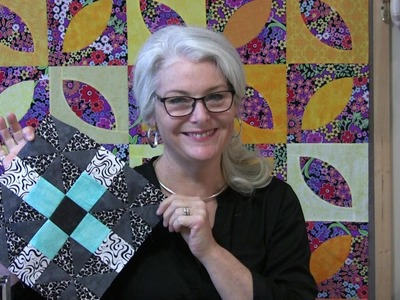 """How to use a 6 1.2"""" Square Up Ruler while making a Pinwheel Block (Jan BOM)"""