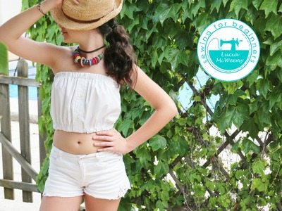 Ideas to upcycle shirts: make a Summer top