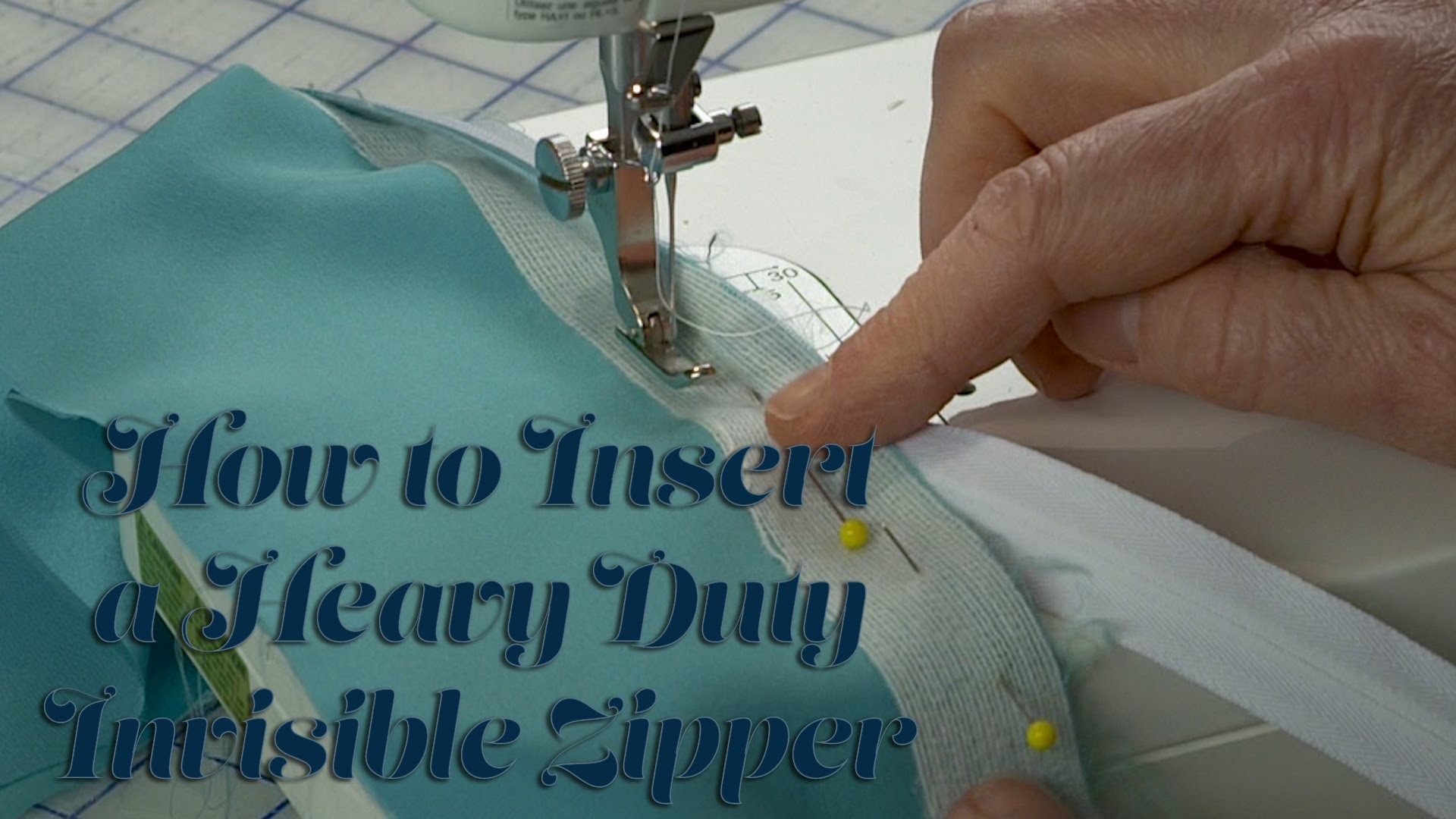 J Stern Designs  l  How to Insert a Heavy Duty Invisible Zipper