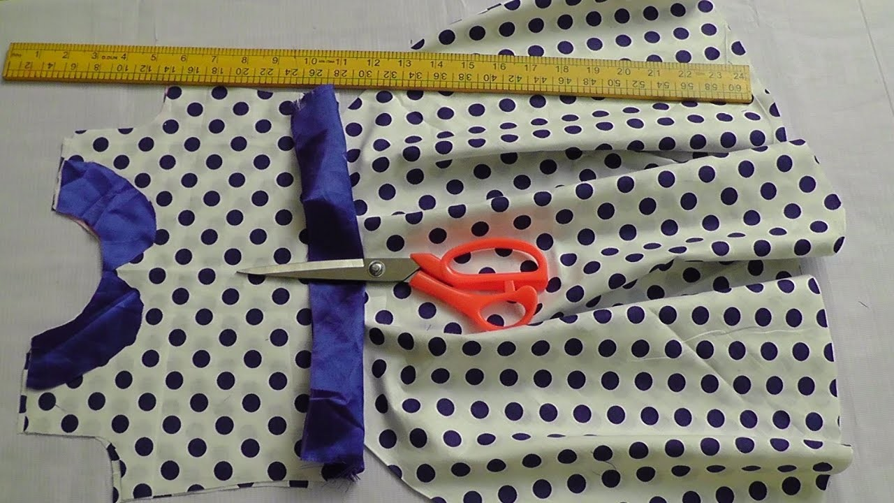 Kids stylish frock with peter pan neck cutting and stitching.PART-1