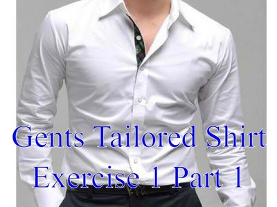 Mens shirts - Exercise 1 part 1 - Constructing the front panels