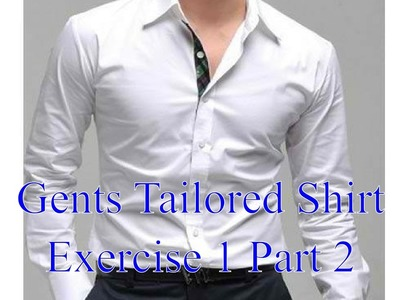 Mens Shirts - Exercise 1 part 2 - Constructing the front panels