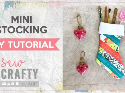 Mini Stocking Tutorial with Quilt As You Go Technique