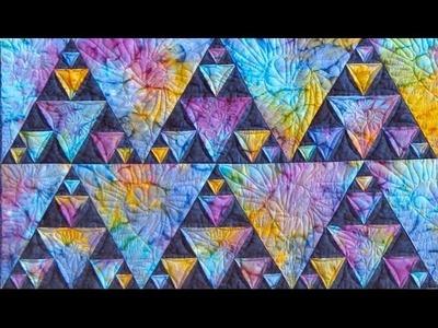 Northern Lights part 2 quilt video by Shar Jorgenson