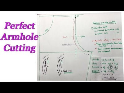 Perfect armhole cutting Tips, malayalam stitching tutorial for beginners