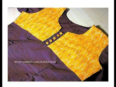 Punjabi Dress   Chudidhar Cutting and Stitching in Telugu