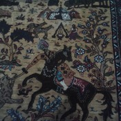 "Turkish  2'2"" x  2' 6"" silk  68 x 77cm"