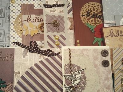 10 Cards 1 kit   Crafty Ola's '' Wild at heart'' card kit