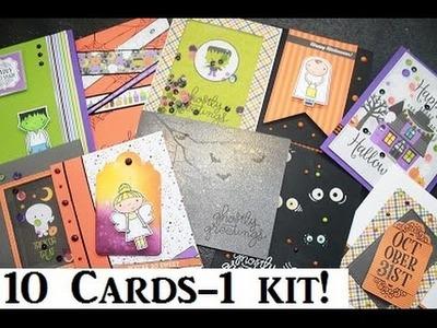 10 Cards 1 Kit - Simon Says Stamp - HALLOWEEN 2016