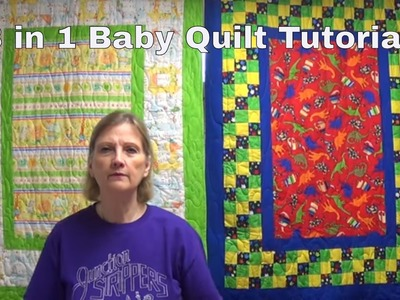 3 in 1 Baby Quilts by www.JunctionFabric.com