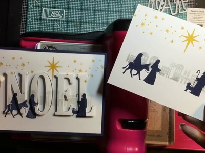 3D Eclipse Card w.Stampin Up! Night In Bethlehem