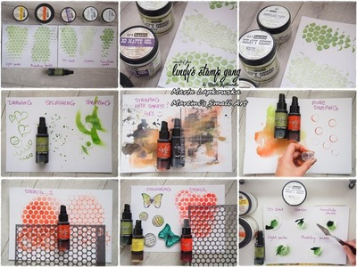 All about SPRAYS (mists) ! - Mixed Media Art Tutorial #1