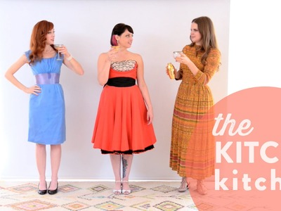 Battle of the Vintage Dresses with Alie and Georgia!. Up Close with Claire