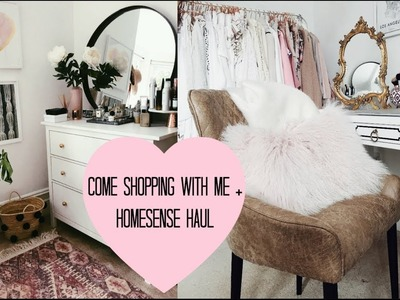COME SHOPPING WITH ME, BEDROOM TOUR + HOMESENSE HAUL | AD