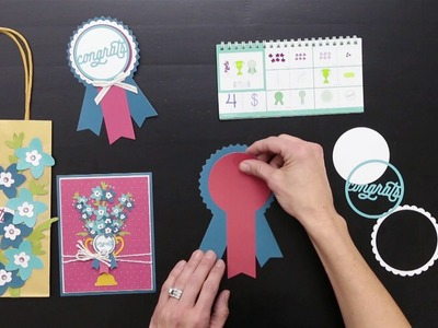 Cricut® Flower Market Collection: Congrats With Flowers and Ribbons
