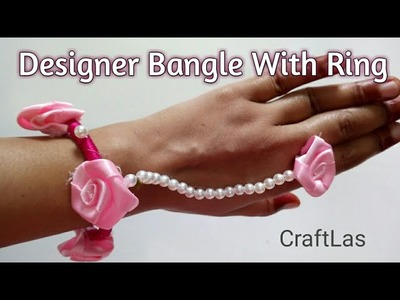 Designer Silk Thread Bangle With Ring | Best Out Of Waste | How To | CraftLas