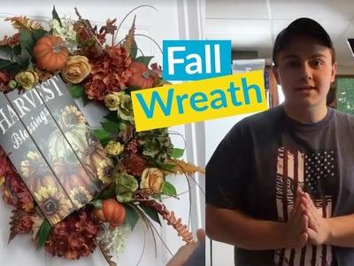 DIY Fall Wreath Part 2