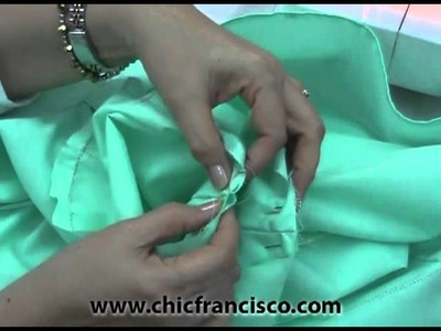 DIY How to Attach the Basic Short Sleeves Lesson 3-16 Part 3a