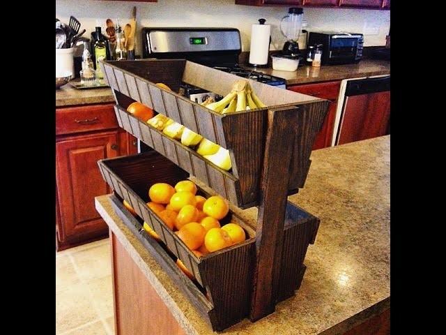 DIY How to Make a Fruit Basket Using Old Pallets
