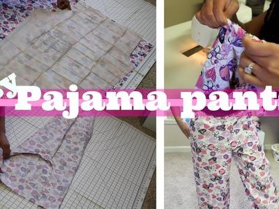 EASY DIY PAJAMA PANTS - 1 piece pattern