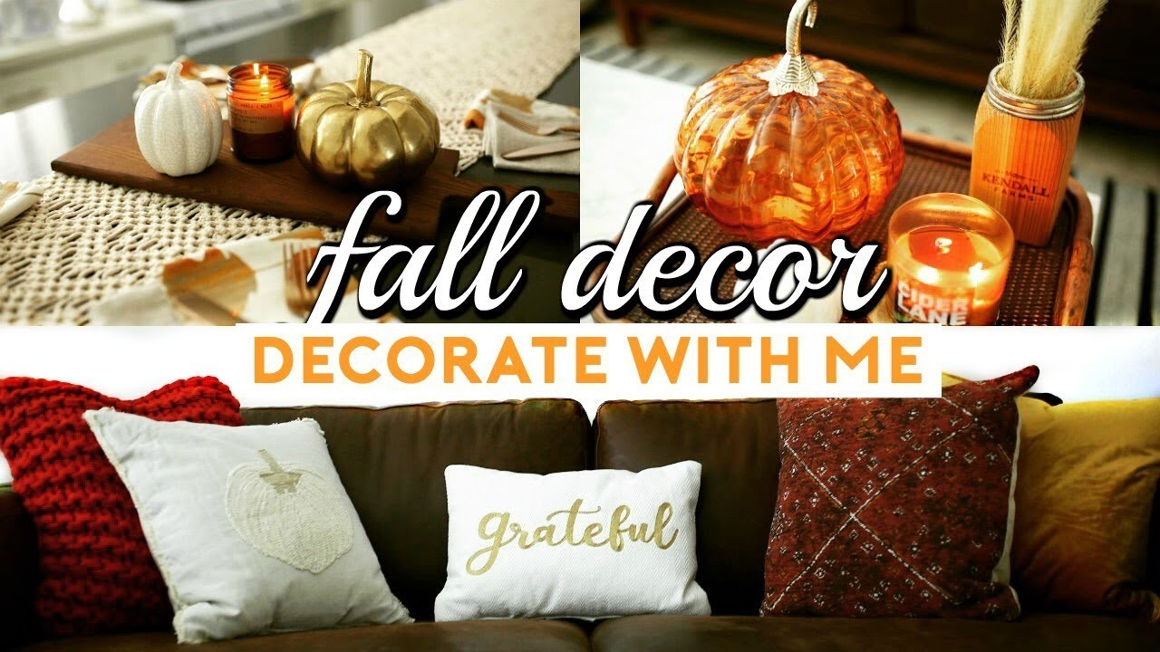 Fall home decor haul how to decorate for autumn 2017 for Home goods fall decorations
