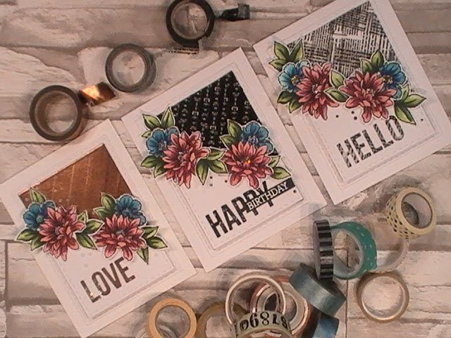 Happy Day Series. Using What's in Our Stash. Washi Tape & Stampendous. C&CT