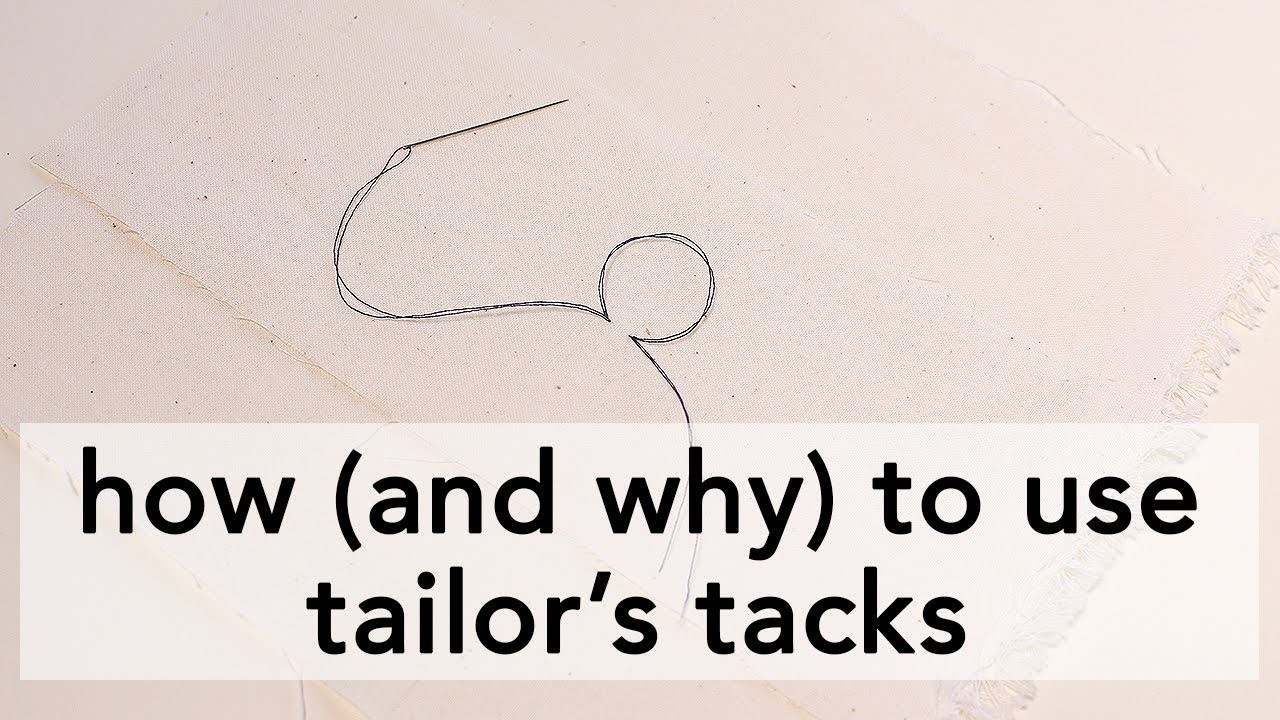 How (and why) to use Tailor's Tacks | Vintage on Tap