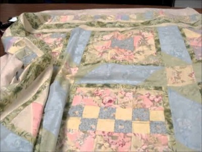 How to attach a quilt top to the batting.