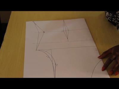 How to Draft a Basic Bodice Pattern Part 2 (waist Dart)