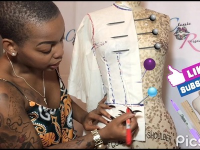 HOW TO DRAPE A BODICE - Easy & Simple !!