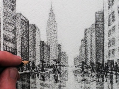 How to Draw a City: Tonal Pencil Drawing