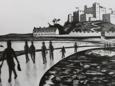 How to Draw a Tonal Landscape: People and Castle