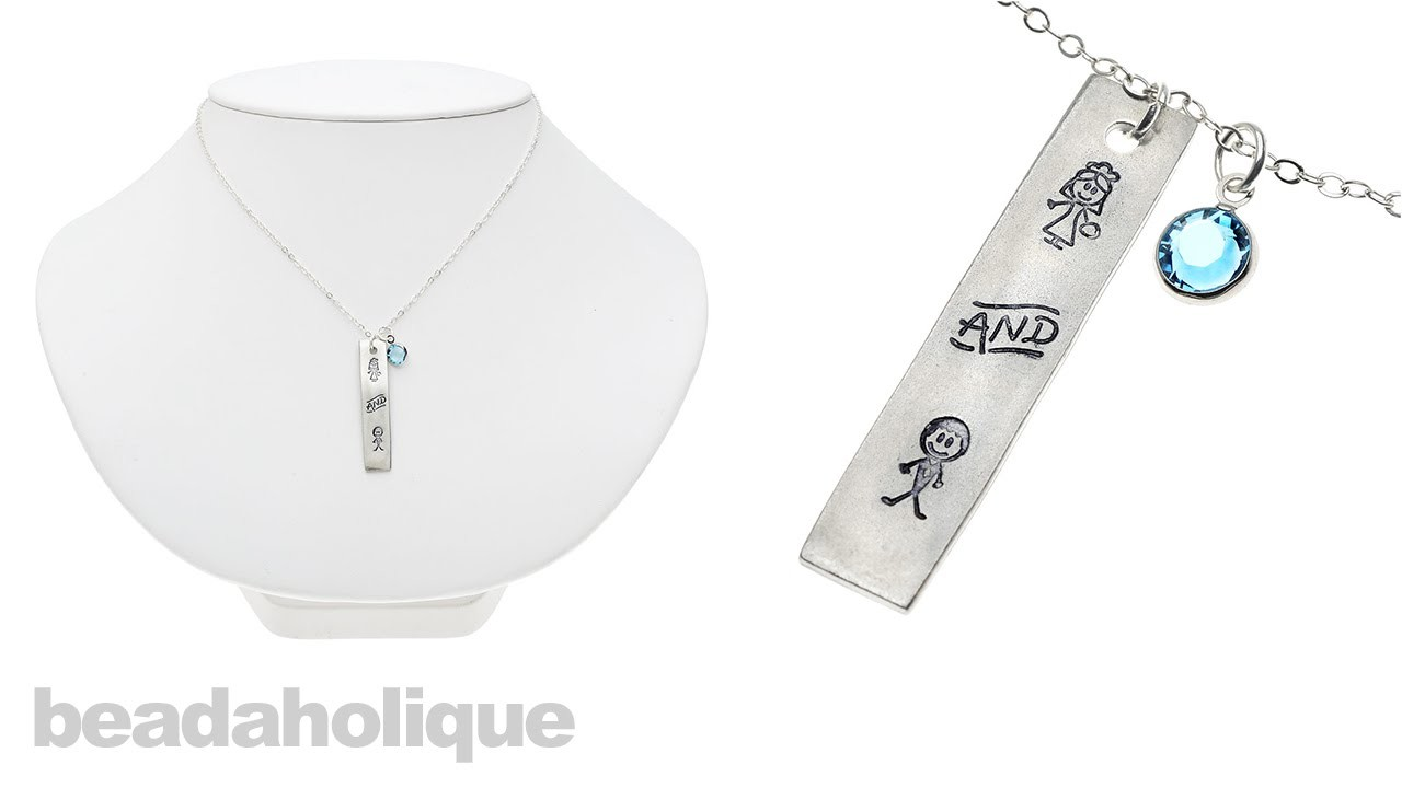 How to Make a Bride and Groom Metal Stamped Necklace